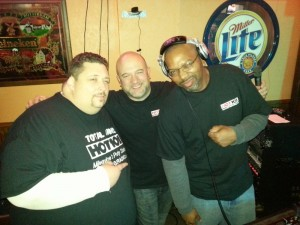 Big Ron, Brian, and Fresh G bangin' out the jams at our HOT102 dance party.