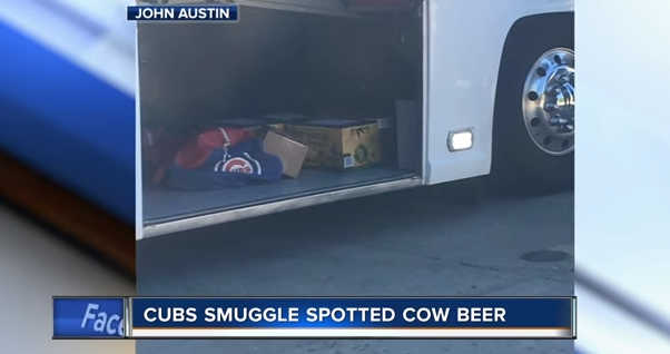 "Cubs caught ""smuggling"" Spotted Cow on their team bus back to Chicago"
