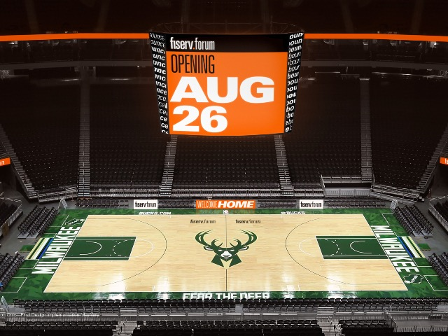 Fiserv Forum sign rendering, from OnMilwaukee.com