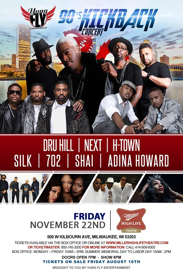 HOT102 welcomes the 90's Kickback Concert Tour to Milwaukee