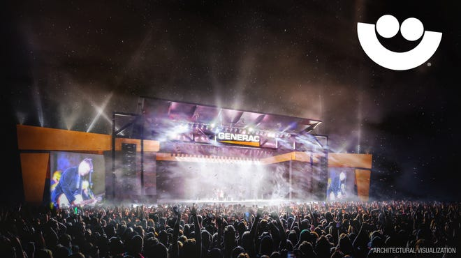 Rendering of the Generac Power Stage for Summerfest 2021, courtesy of Milwaukee World Festival, Inc.